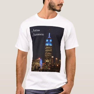 Empire State Building Blue for Autism 2012 T-Shirt