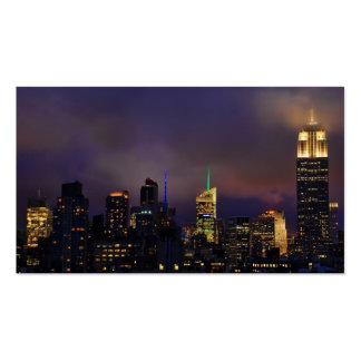 Empire State Building glows in clouds and fog Business Card