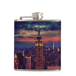 Empire State Building Hip Flask
