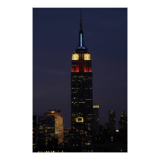 Empire State Building in Red White Blue, 30 Rock Poster