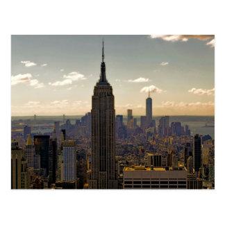 Empire State Building Landscape Postcard