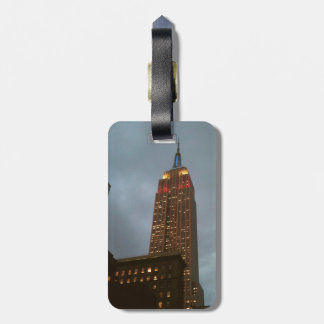 Empire State Building Leather Luggage Tag