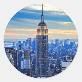 Empire State Building, Manhattan, New York City Classic Round Sticker