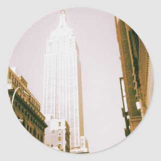 Empire State Building, New York City Round Sticker
