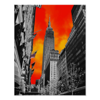 Empire State Building, New York, NY Poster