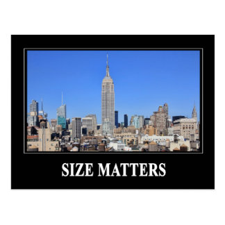 Empire State Building, NYC Skyline: Size Matters Postcard