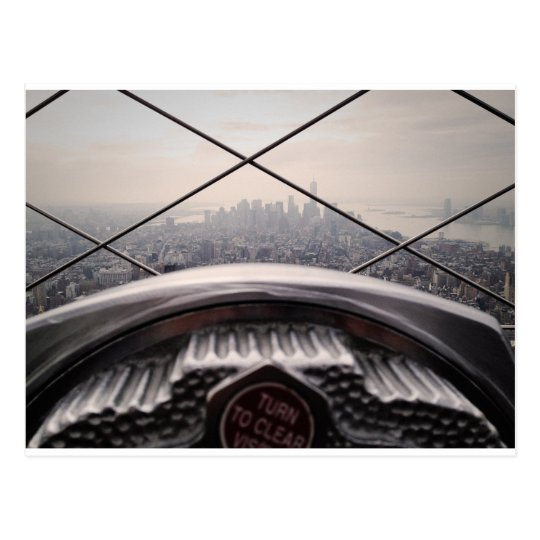 empire state building postcard