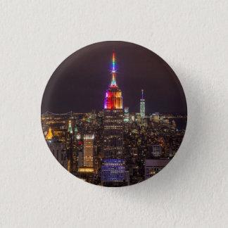 Empire State Building Pride 1 Inch Round Button