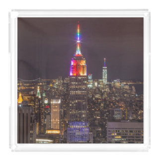 Empire State Building Pride Acrylic Tray