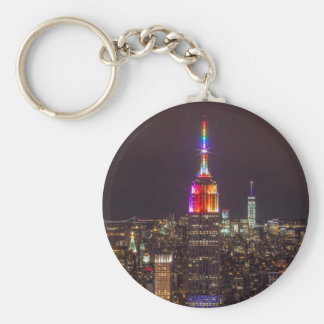Empire State Building Pride Keychain