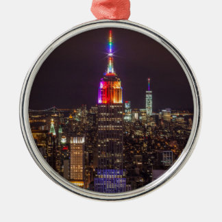 Empire State Building Pride Metal Ornament