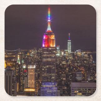 Empire State Building Pride Square Paper Coaster