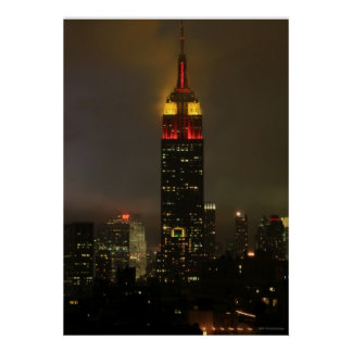 Empire State Building Red, Yellow: Lunar New Year Poster