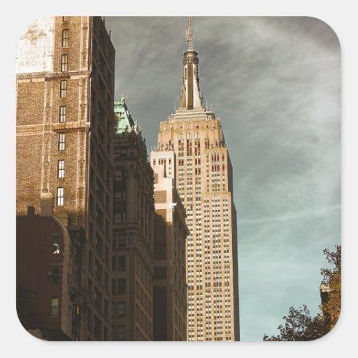 Empire State Building Skyscraper Photo Square Sticker