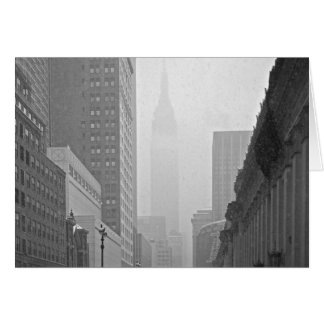 Empire State Building - Snowy Day Card