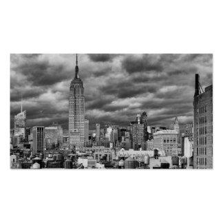 Empire State Building, Stormy NYC skyline, B&W Business Card