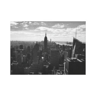 Empire State New York Canvas - Black & White