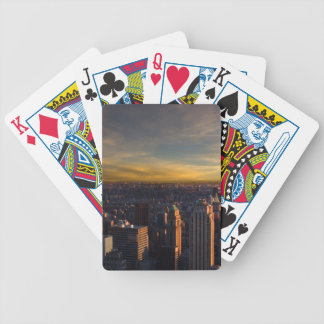 empire state sunset bicycle playing cards