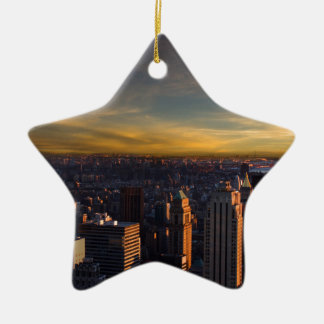 empire state sunset ceramic ornament