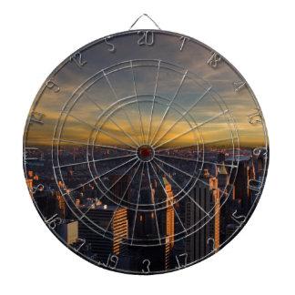 empire state sunset dartboard