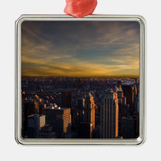 empire state sunset metal ornament