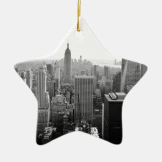 Empire States Building Manhattan Ceramic Star Ornament