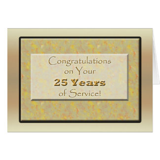 Employé 25 années de service ou anniversaire carte