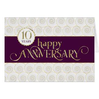 Employee 10th Anniversary - Prestigious Plum Gold Card