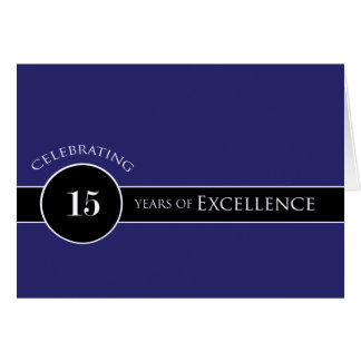 Employee 15th Anniversary Circle of Excellence Greeting Card