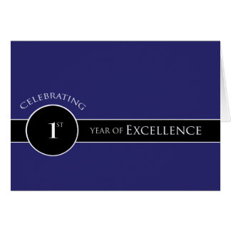 Employee 1st Anniversary / Circle of Excellence Card