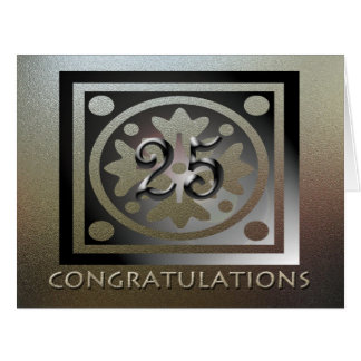 Employee 25th Anniversary BIG Elegant Golden Card
