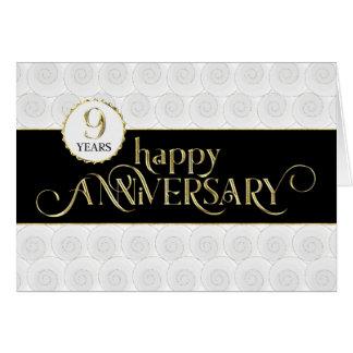 Employee 9th Anniversary - Prestigious Black Gold Card