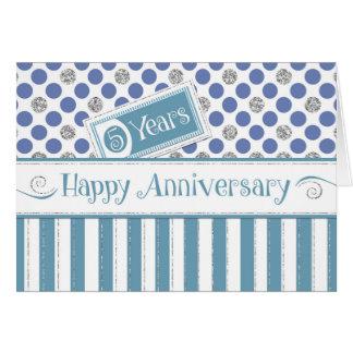 Employee Anniversary 5 Years Jade Blue Card
