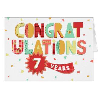 Employee Anniversary 7 Years Fun Congratulations Card
