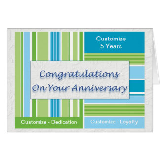 Employee Anniversary Card