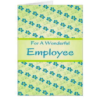 Employee Anniversary Card with Floral Design