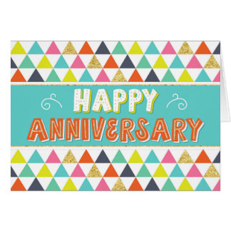 Employee Anniversary - Colourful Pattern Card