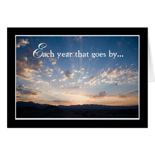 Employee Anniversary, Landscape Sky Card