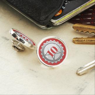 Employee anniversary milestone year lapel pin star