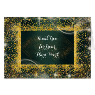 Employee Anniversary Personalized Thank You Green Card