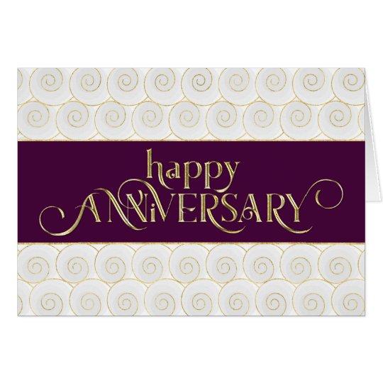 Employee Anniversary - Prestigious - Plum Gold Card