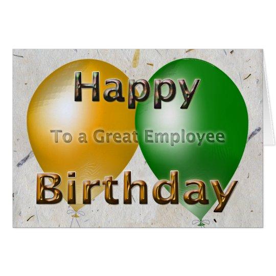 Employee Happy Birthday Card