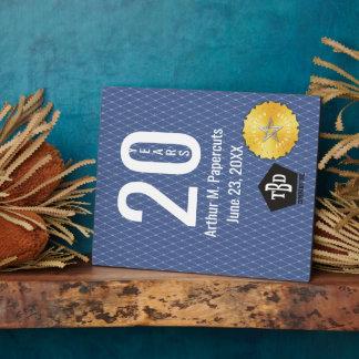 Employee milestone anniversary 20 years plaque