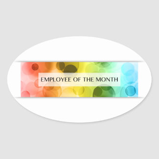 employee of the month (bokeh) oval sticker
