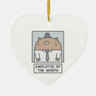 Employee Of The Month Ceramic Heart Ornament