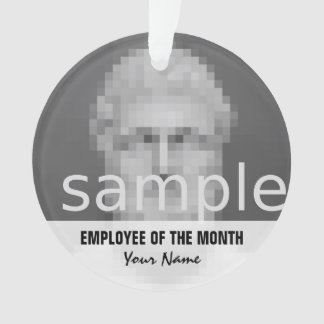 Employee of the month Christmas photo ornament