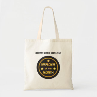 Employee of the Month custom text gold stars Tote Bag
