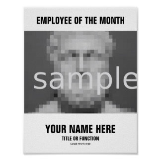 Employee of the month employee appreciation poster