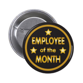 Employee of the Month Gold Stars 2 Inch Round Button
