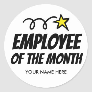 Employee of the month stickers